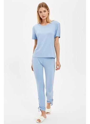 Defacto –Fit Tişört Mavi